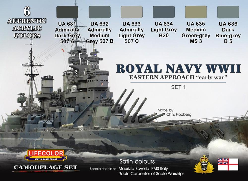 Royal Navy WWII Paint Set