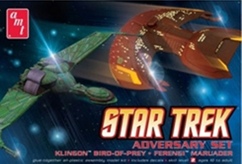 Star Trek Adversary Set (Klingon Bird-of-Prey, Ferengi Marauder)