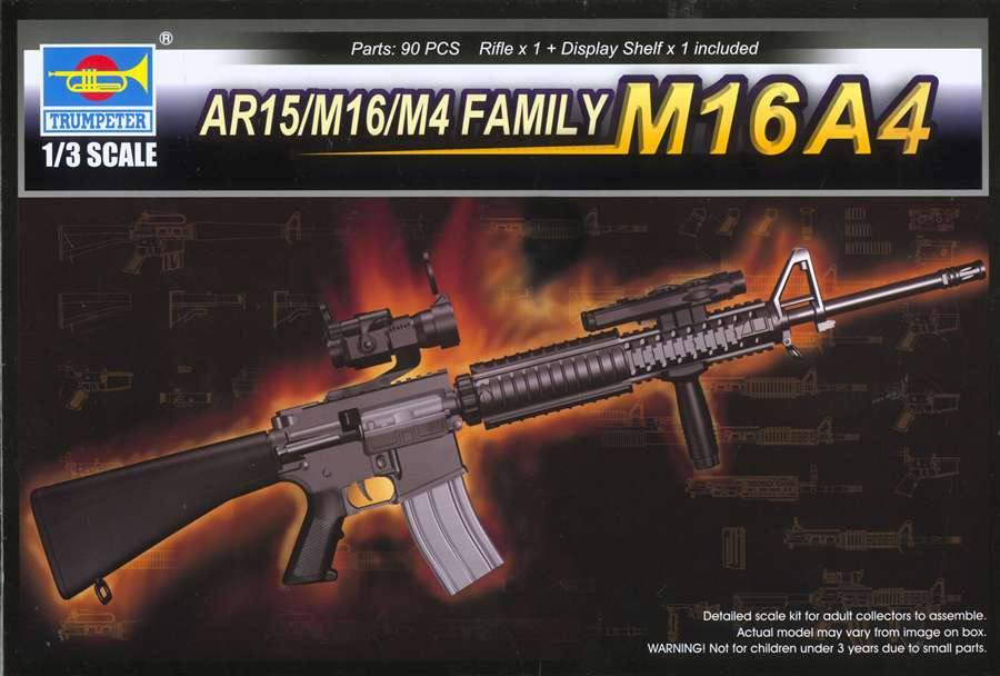 1/3 Scale AR15/M16/M4 Family M16A4