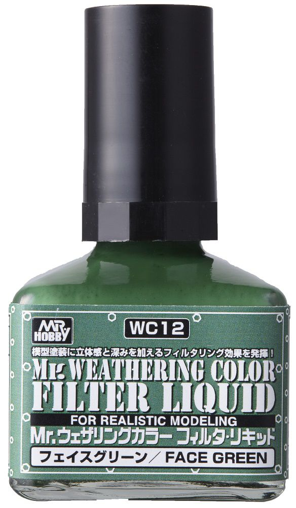Mr WEATHERING COLOR FILTER LIQUID FACE GREEN