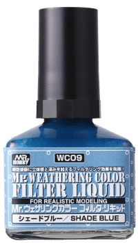 Mr WEATHERING COLOR FILTER LIQUID SHADE BLUE
