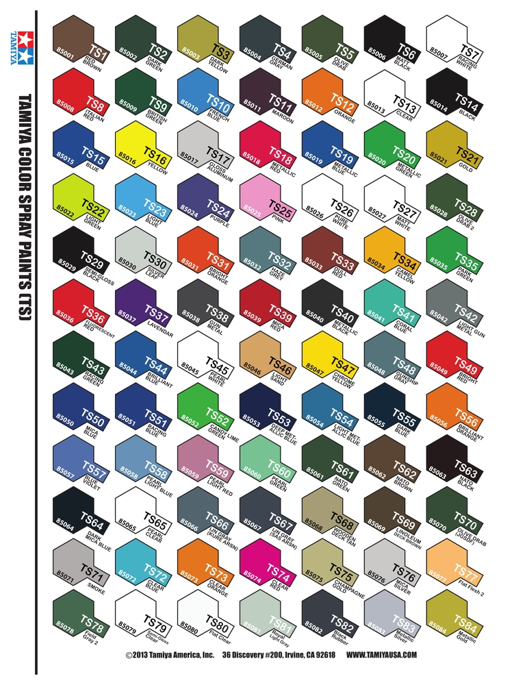 Tamiya Color Charts Heartpulsar