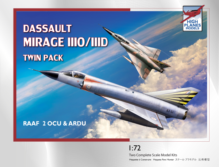 Dassault Mirage IIID/O twin pack ARDU and 2OCU Plastic ModelKit