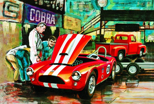 Cobra Racing Team Shelby Cobra &'53 Ford Pickup & Trailer AMT