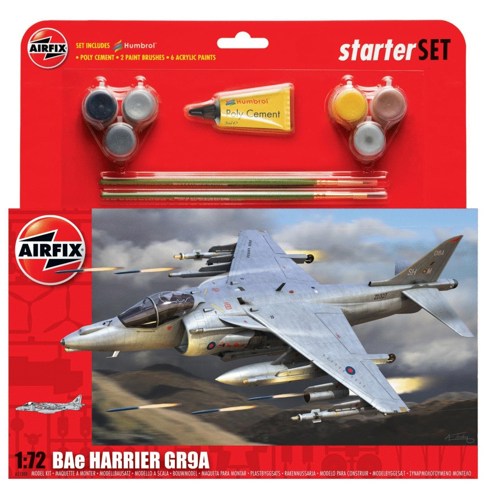 BAe Harrier GR9A Starter Set Airfix 1:72