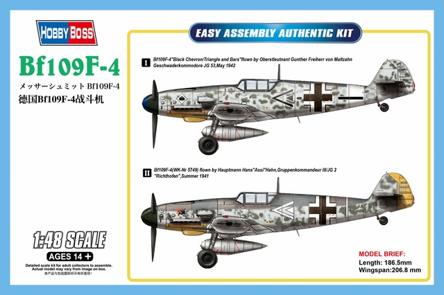 BF109 F4 From Hobby Boss
