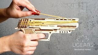 Wolf-01 Handgun mechanical model kit from Ugears