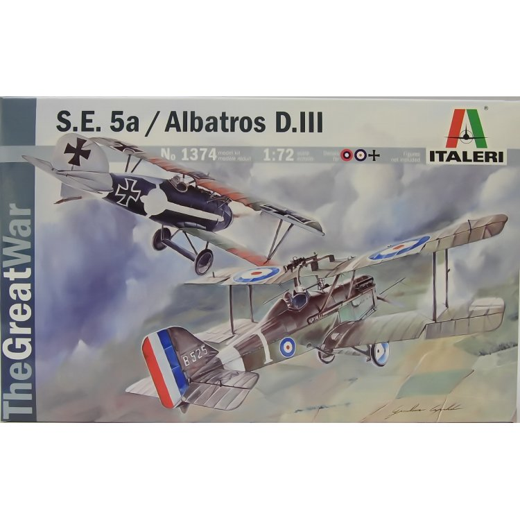 S.E.5a / ALBATROS D.III Twin Pack from Italeri