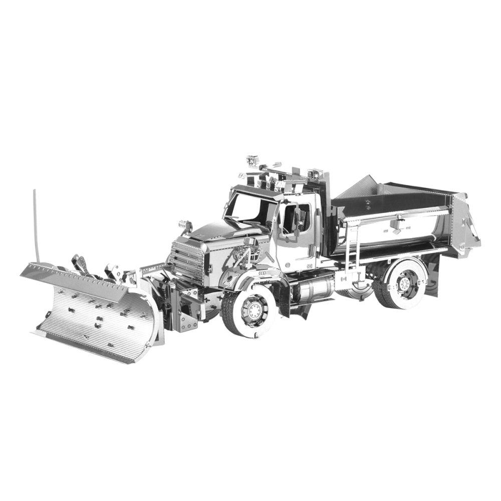 Freightliner 114SD Snow Plow From Metal Earth