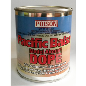 Pacific Balsa Model Aircraft Dope Tin 250ml