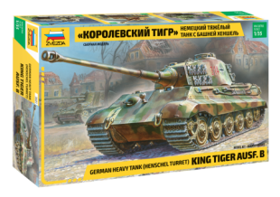 KING TIGER WITH HENSCHEL TURRET Zvezda