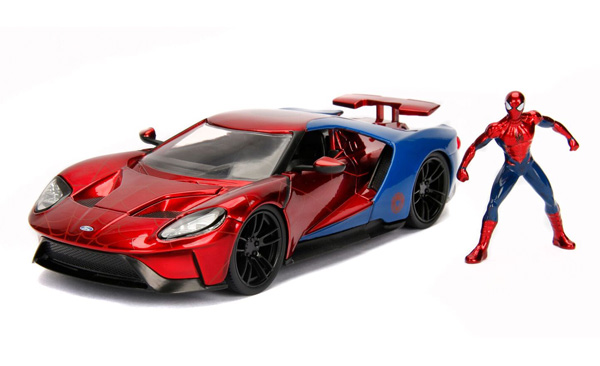 Spiderman with 2017 Ford GT