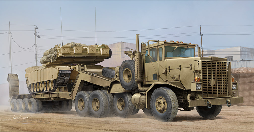 M911 C-HET w/m747 Heavy Equipment Semi-Trailer