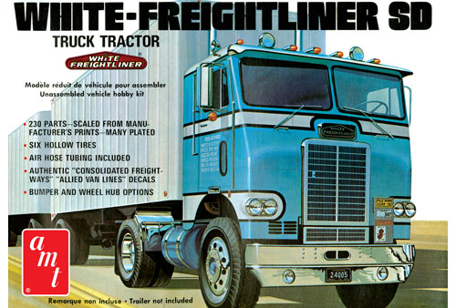 White Freightliner Single Drive Tractor
