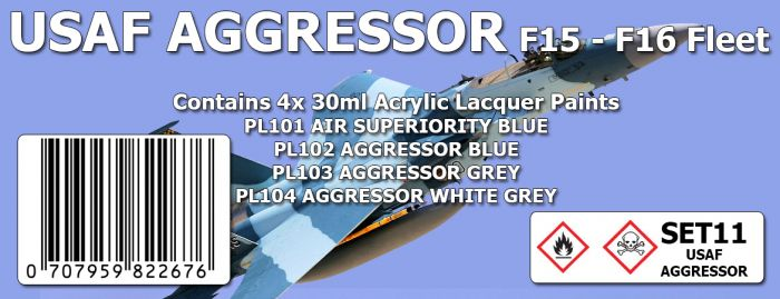 USAF AGGRESSOR F15 - F16 Colour Set