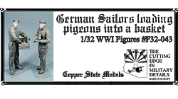 Germam sailors with pigeons