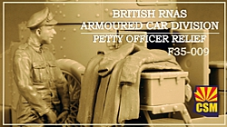 British RNAS Armoured Car Division Petty Officer Relief
