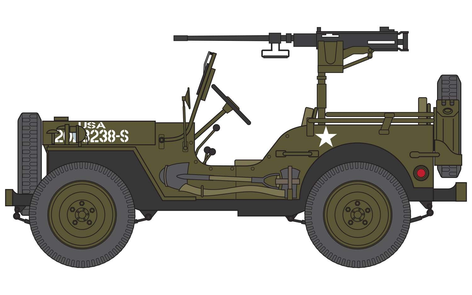 starter set Willys MB Jeep
