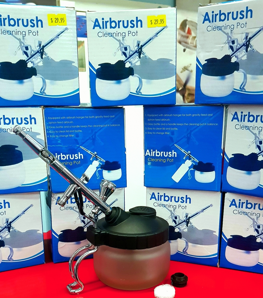 Airbrush Cleaning Jar