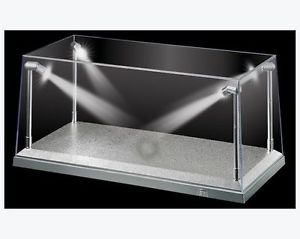 LED Display Case With Silver Base