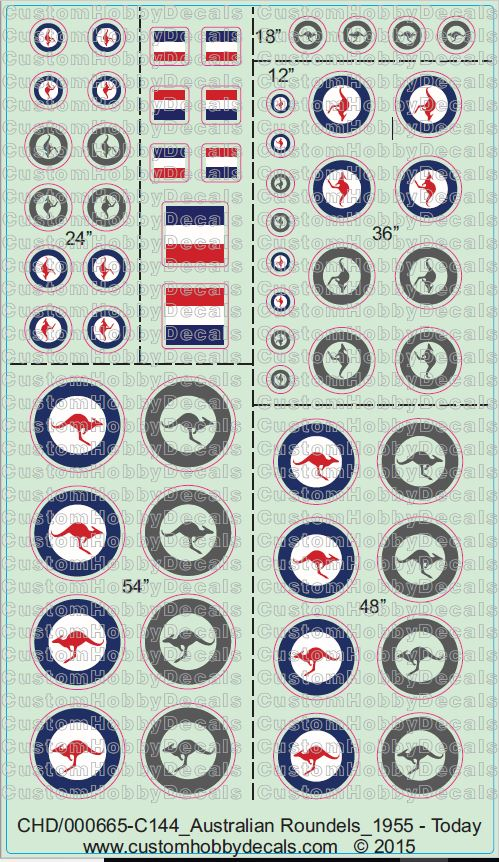 RAAF Roundels 1955 - Today 1/72