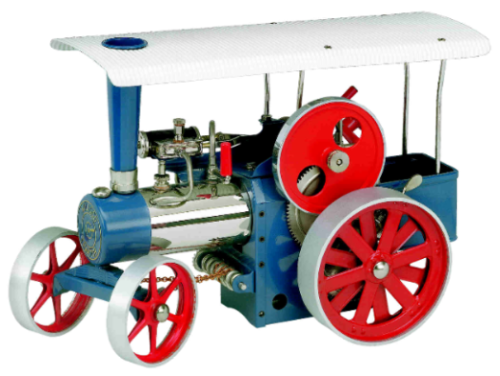 D415 Steam Traction Engine, blue