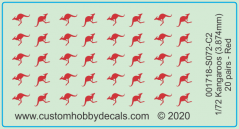 Red Kangaroos Decals 1/72