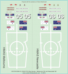 RAN FFG Ship Decals Melbourne & Newcastle