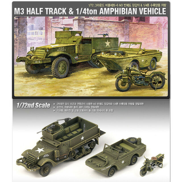 M3 USA Half Track 11/4 Amphibious Vehicle