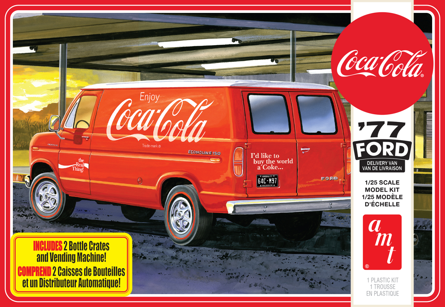 1977 Ford Van with Vending Machine (Coca-Cola)