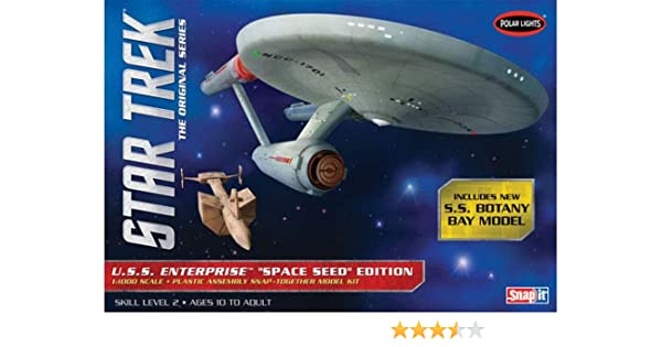 Star Trek TOS USS Enterprise Space Seed Edition 1:1000 Snap Kit