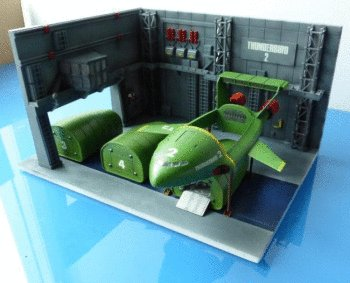 THUNDERBIRD 2 Container Dock With THUNDERBIRD 2 & 4