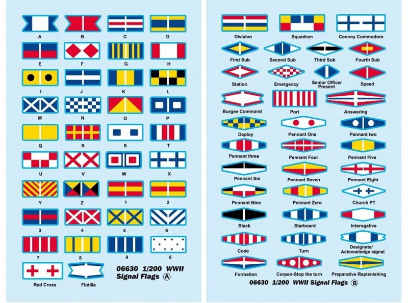 WWII Signal Flag Decals