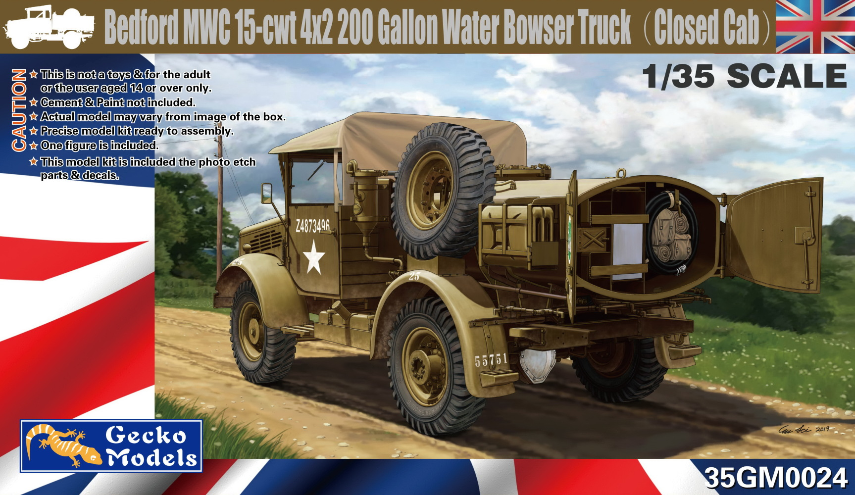 Bedford MWC 15Cwt 4x2 200 Gallon Water Truck