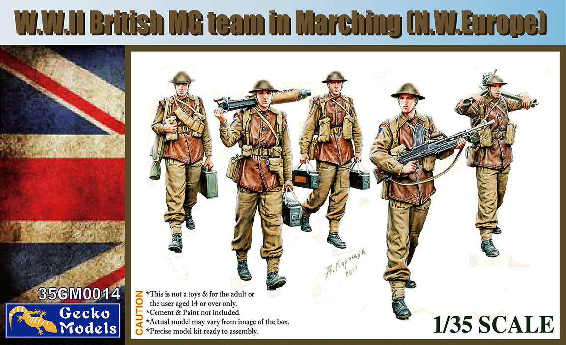 WWII British MG Team Marching