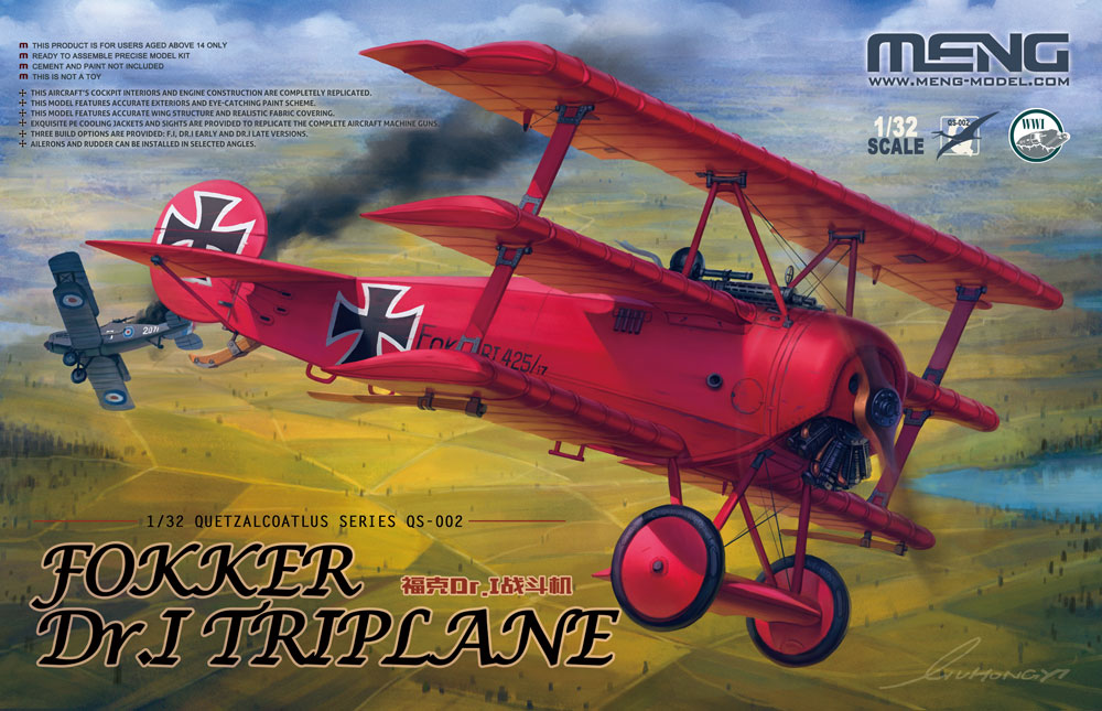 Fokker DR 1 With Red Baron Bust