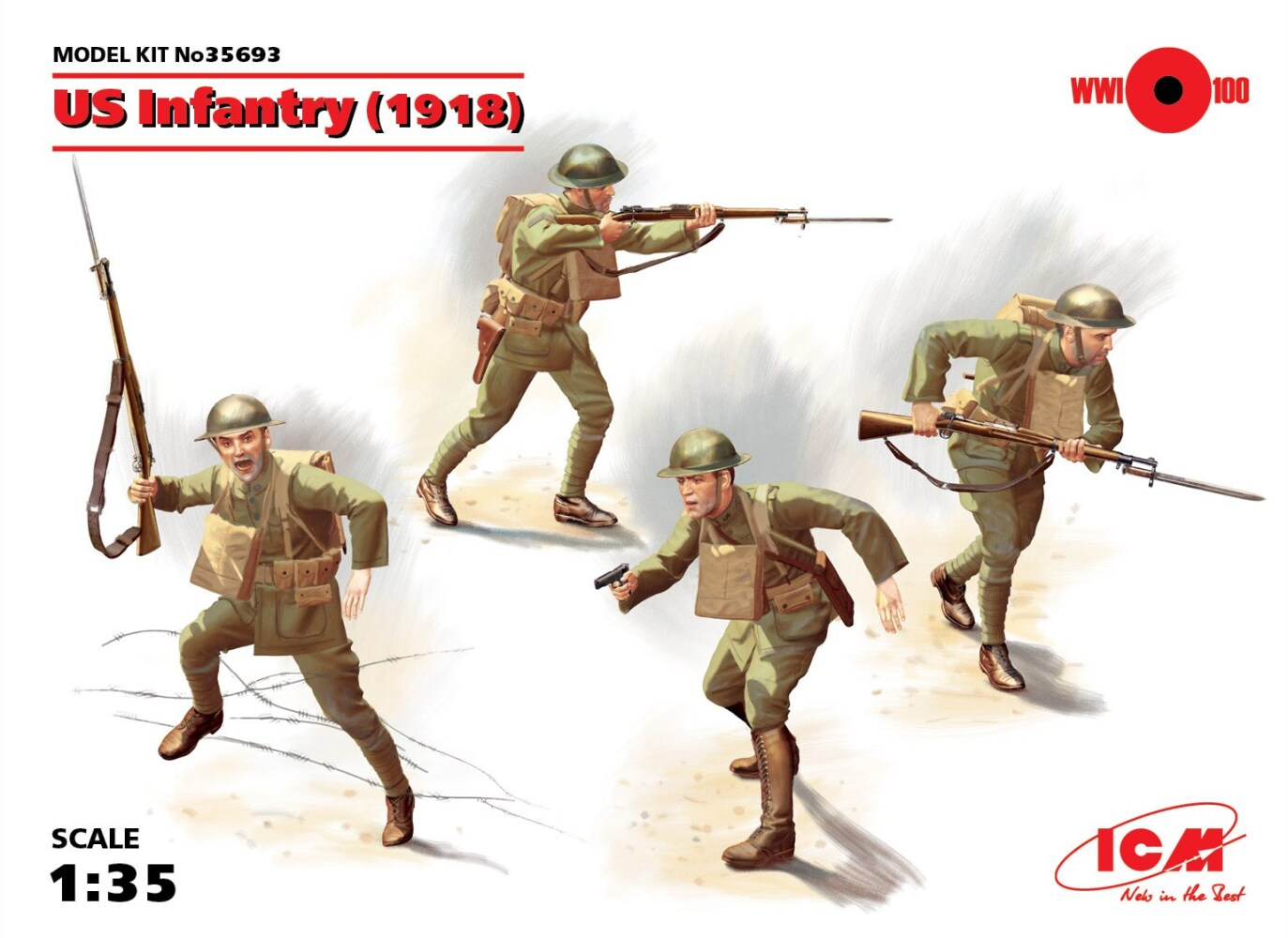 US Infantry (1918) (4 figures)