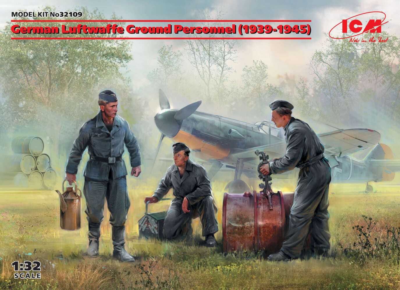 German Luftwaffe Ground Personnel (1939-1945) (3 figures)