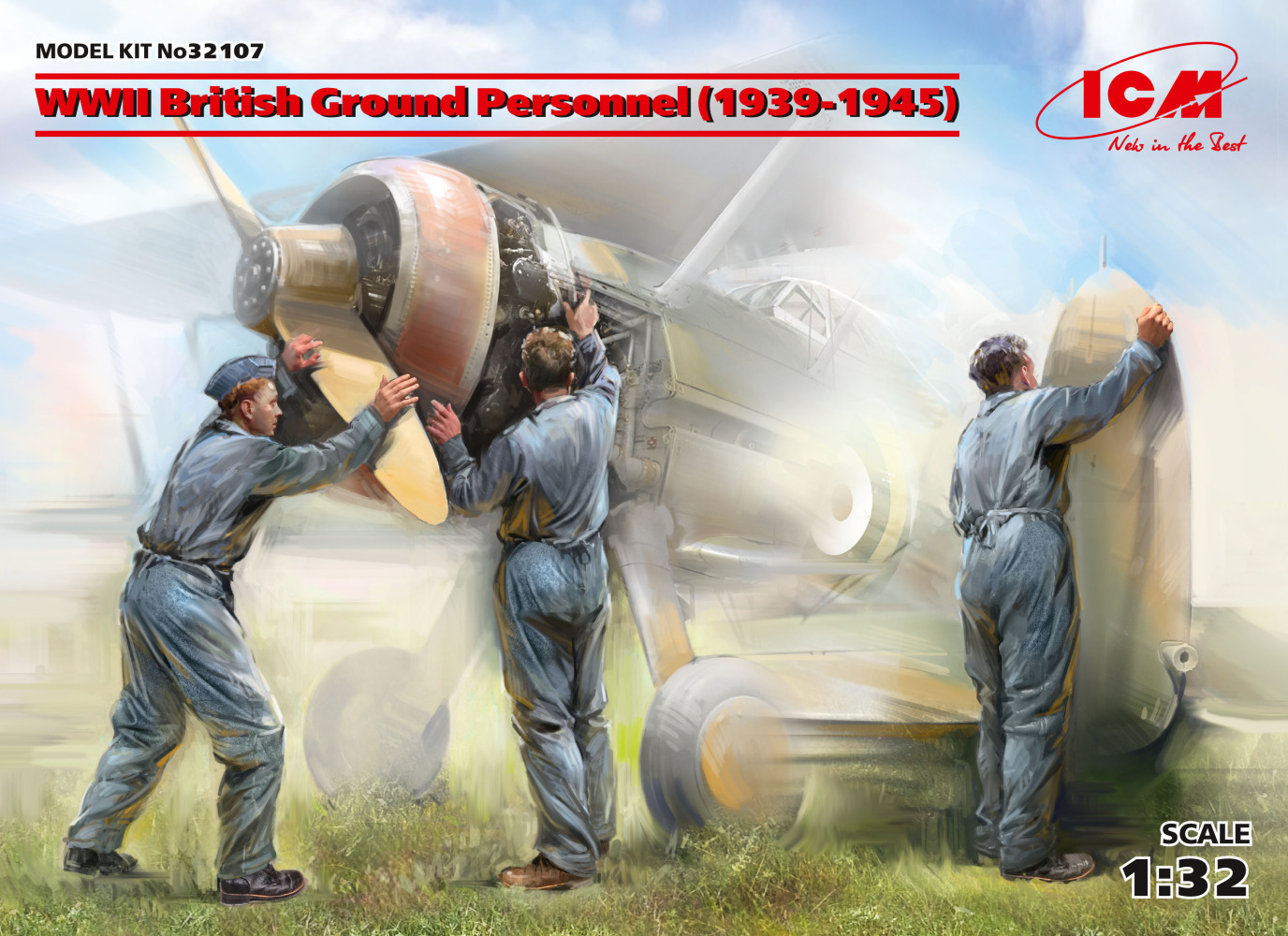 WWII British Ground Personnel (1939-1945) (3 figures)