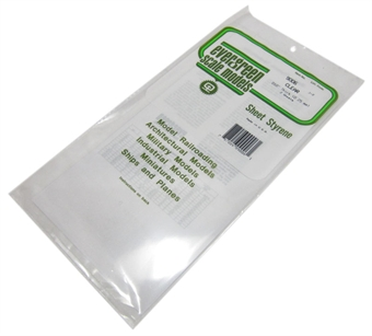 "9006 12"" x 6"" Clear sheets 0.010"" thickness 2 per pack"
