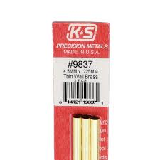 Round Brass Tube 4.5mmx300mm, pack of 3