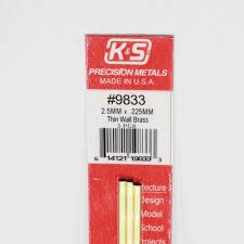 Round Brass Tube 2.5mmx300mm, pack of 3