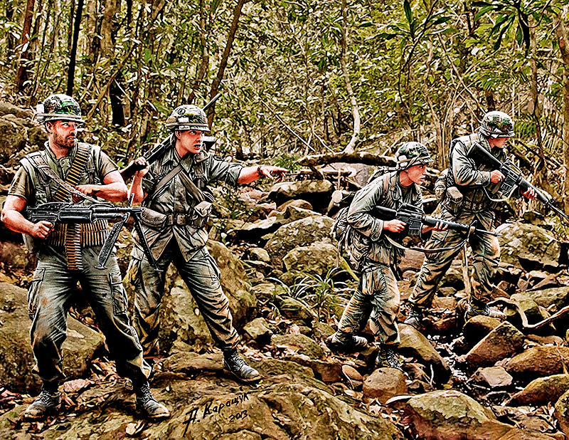 Vietnam War Jungle Patrol