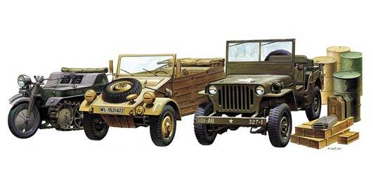 WW II Ground Vehicle Set